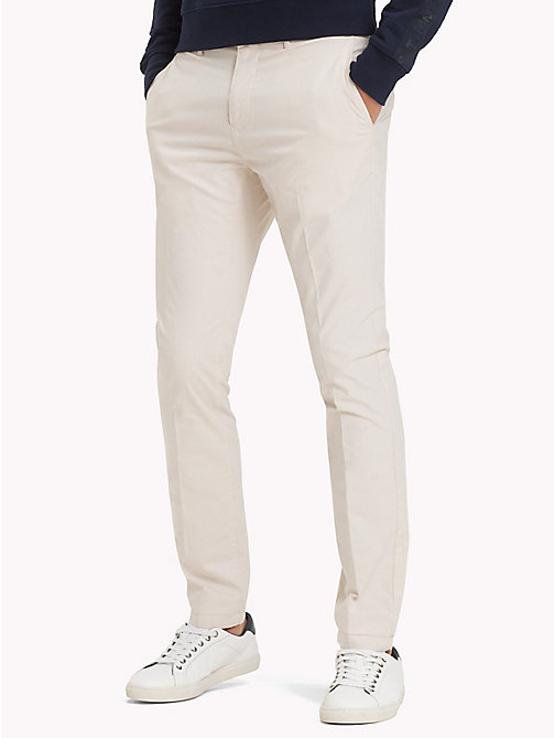 TOMMY HILFIGER Denton Stripe Chinos - OYSTER GRAY - TOMMY HILFIGER Chinos - main image