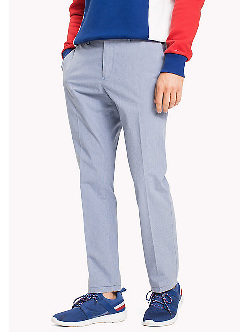 TOMMY HILFIGER Denton Stripe Chinos - DUTCH BLUE - TOMMY HILFIGER Clothing - main image