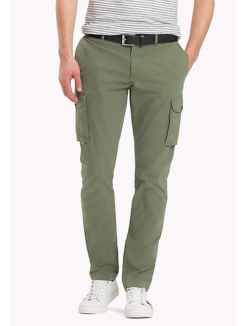 TOMMY HILFIGER Cargo Straight Fit Trousers - FOUR LEAF CLOVER - TOMMY HILFIGER Chinos - main image