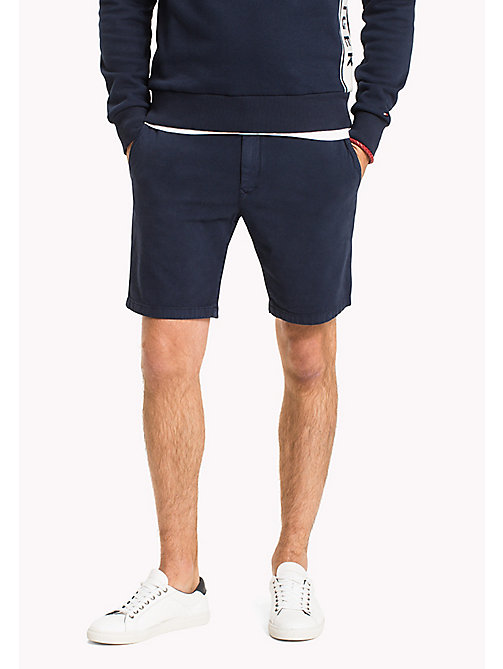 TOMMY HILFIGER Structured Regular Fit Shorts - NAVY BLAZER - TOMMY HILFIGER Shorts - main image