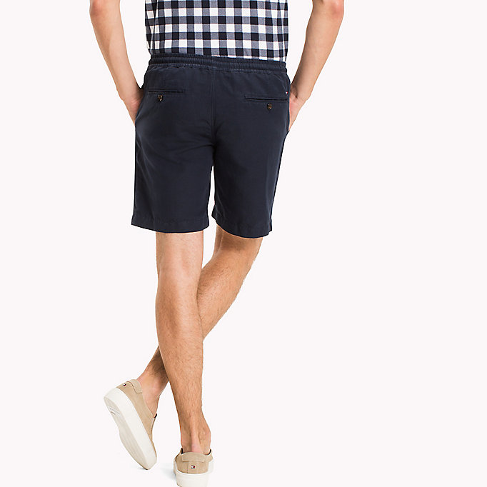 TOMMY HILFIGER Cotton Linen Drawstring Shorts - FANFARE - TOMMY HILFIGER Clothing - detail image 1