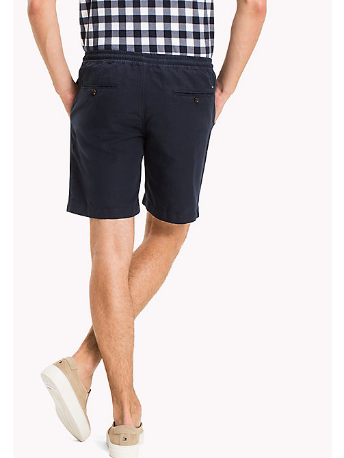 TOMMY HILFIGER Cotton Linen Drawstring Shorts - NAVY BLAZER - TOMMY HILFIGER Clothing - detail image 1