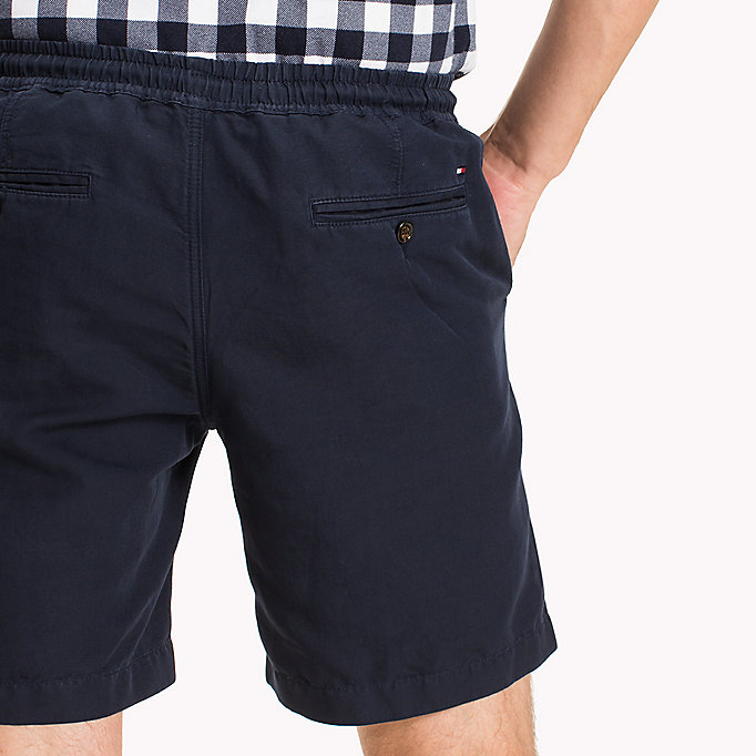 TOMMY HILFIGER Cotton Linen Drawstring Shorts - FANFARE - TOMMY HILFIGER Clothing - detail image 3