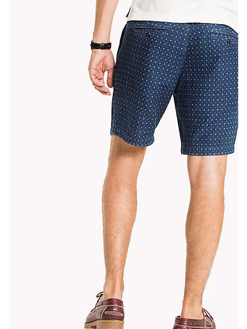 TOMMY HILFIGER Dezent gemusterte Regular Fit Shorts - NAVY BLAZER - TOMMY HILFIGER Shorts - main image 1