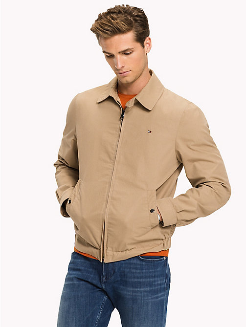 TOMMY HILFIGER Classic Zip Up Tommy Jacket - BATIQUE KHAKI - TOMMY HILFIGER Jackets - main image