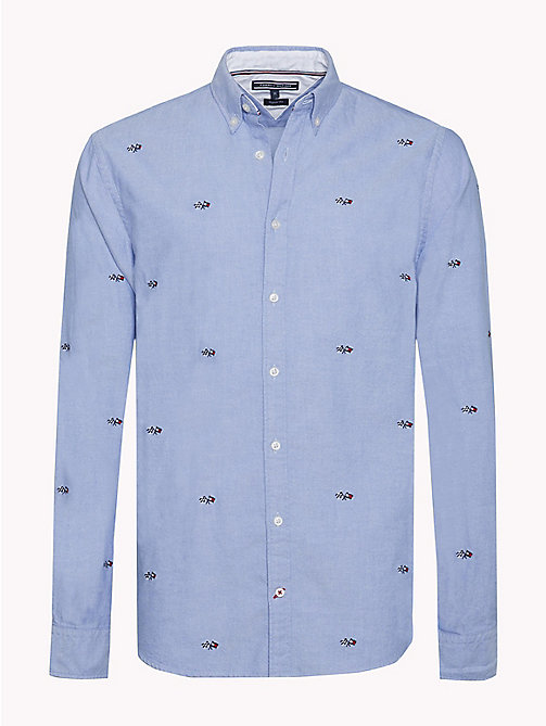 TOMMY HILFIGER Racer Style Oxford Shirt - SHIRT BLUE/MULTI - TOMMY HILFIGER Shirts - main image