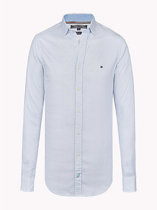 TOMMY HILFIGER Print Slim Fit Shirt - REGATTA / BRIGHT WHITE - TOMMY HILFIGER Clothing - main image