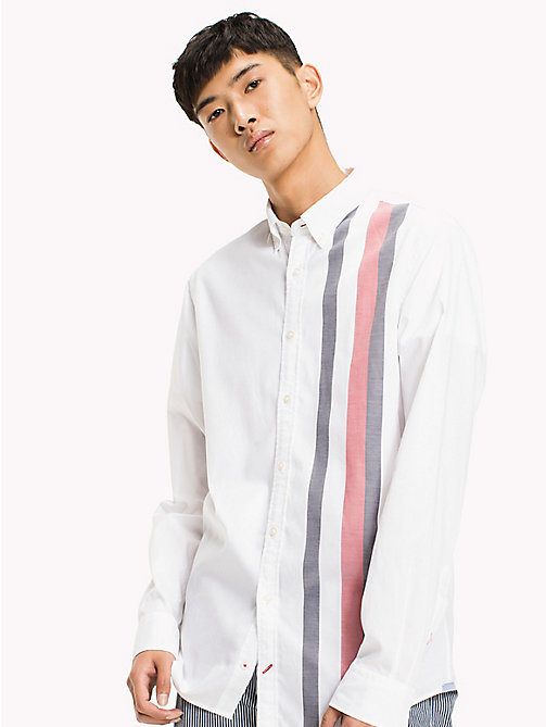 TOMMY HILFIGER Signature Stripe Regular Fit Shirt - BRIGHT WHITE / MULTI - TOMMY HILFIGER NEW IN - detail image 1