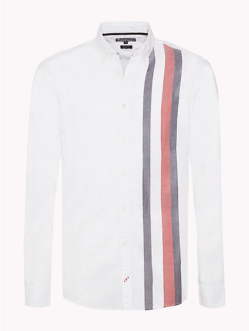 TOMMY HILFIGER Signature Stripe Regular Fit Shirt - BRIGHT WHITE / MULTI - TOMMY HILFIGER NEW IN - main image