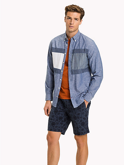TOMMY HILFIGER Camicia patchwork regular fit - INDIGO - TOMMY HILFIGER Camicie Casual - dettaglio immagine 1