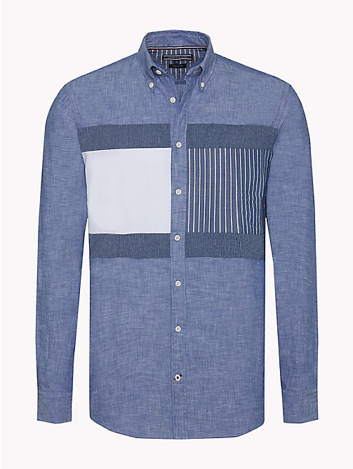 TOMMY HILFIGER Camicia patchwork regular fit - INDIGO - TOMMY HILFIGER Camicie Casual - immagine principale
