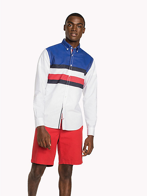 TOMMY HILFIGER Colour-Blocked Regular Fit Shirt - BARBADOS CHERRY / SKY CAPTAIN / BW - TOMMY HILFIGER Clothing - detail image 1