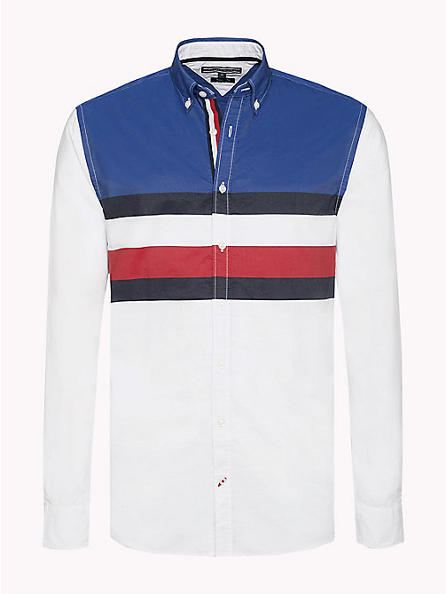 TOMMY HILFIGER Colour-Blocked Regular Fit Shirt - BARBADOS CHERRY / SKY CAPTAIN / BW - TOMMY HILFIGER Clothing - main image