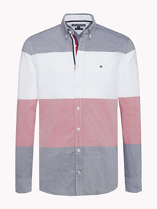 TOMMY HILFIGER Block Stripe Regular Fit Shirt - BRIGHT WHITE / MULTI - TOMMY HILFIGER Casual Shirts - main image