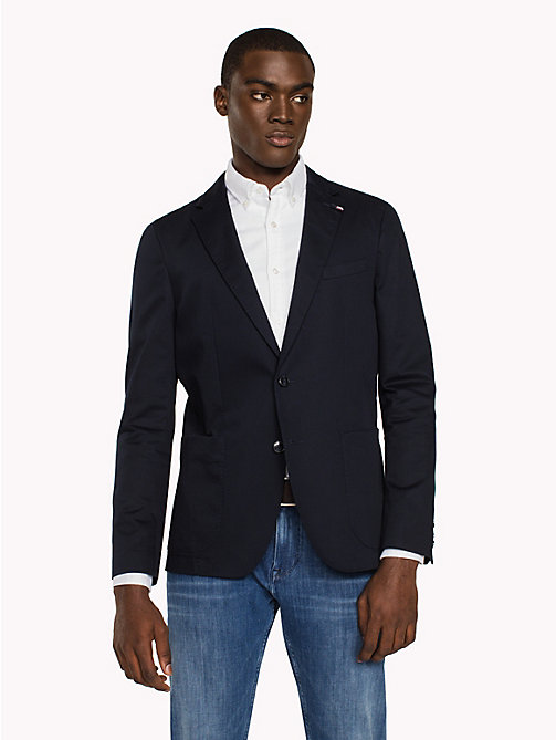 TOMMY HILFIGER Slim Fit Stretch Cotton Blazer - SKY CAPTAIN - TOMMY HILFIGER Blazers - main image