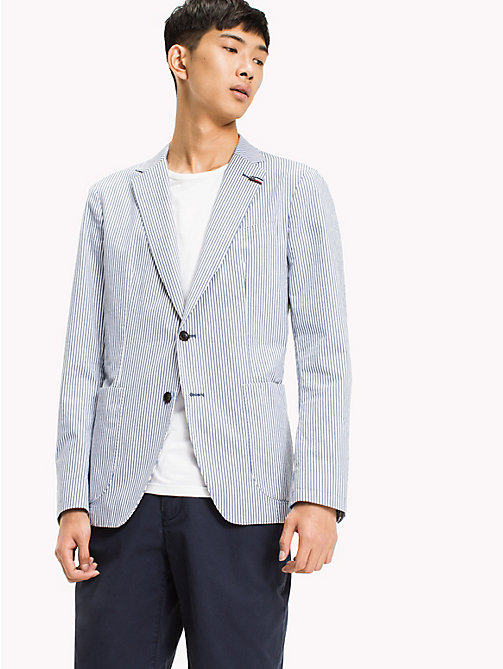 TOMMY HILFIGER Stripe Blazer - NAVY BLAZER - TOMMY HILFIGER NEW IN - main image