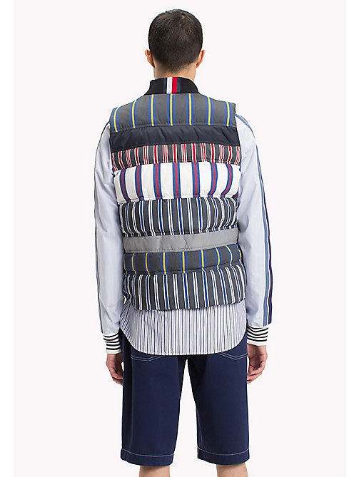 HILFIGER COLLECTION Mix Stripe Cotton Quiltedgilet - BRIGHT WHITE - HILFIGER COLLECTION Clothing - detail image 1