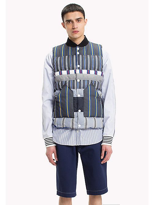 HILFIGER COLLECTION Mix Stripe Cotton Quiltedgilet - BRIGHT WHITE - HILFIGER COLLECTION HILFIGER COLLECTION - main image