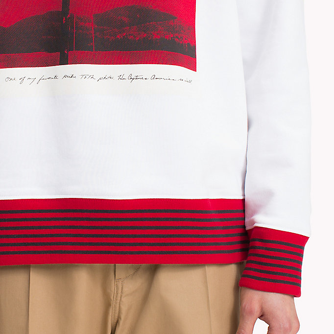HILFIGER COLLECTION Hilfiger Collection Printed Sweatshirt - BARBADOS CHERRY - HILFIGER COLLECTION Men - detail image 2