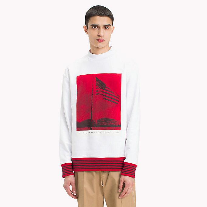 HILFIGER COLLECTION Hilfiger Collection Printed Sweatshirt - BARBADOS CHERRY - HILFIGER COLLECTION Men - main image