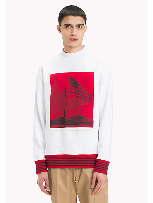 HILFIGER COLLECTION Hilfiger Collection Printed Sweatshirt - BRIGHT WHITE - HILFIGER COLLECTION Sweatshirts & Knitwear - main image