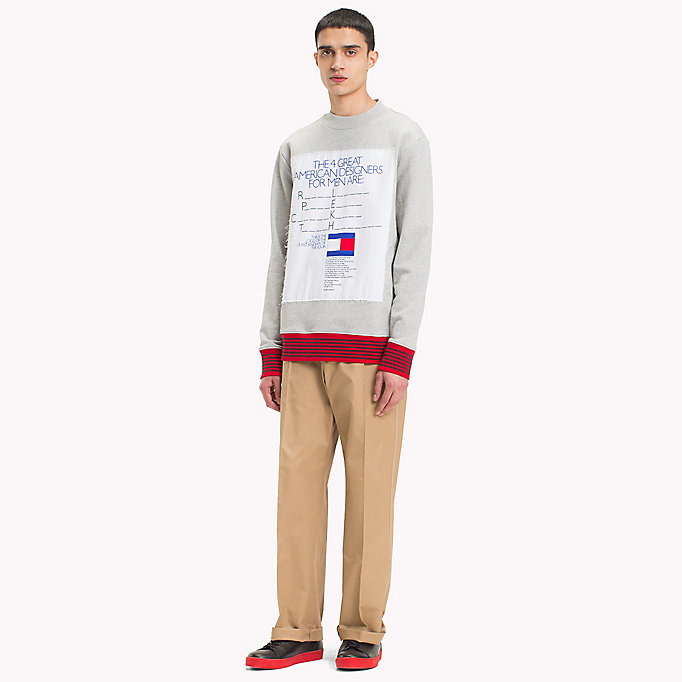 HILFIGER COLLECTION Hilfiger Collection Printed Sweatshirt - BRIGHT WHITE - HILFIGER COLLECTION Men - detail image 3