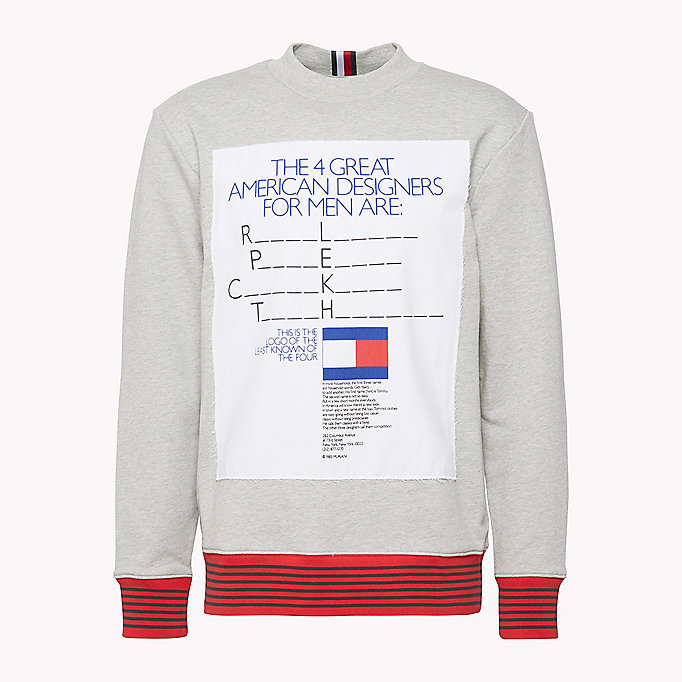 HILFIGER COLLECTION Hilfiger Collection Printed Sweatshirt - BRIGHT WHITE - HILFIGER COLLECTION Men - detail image 4