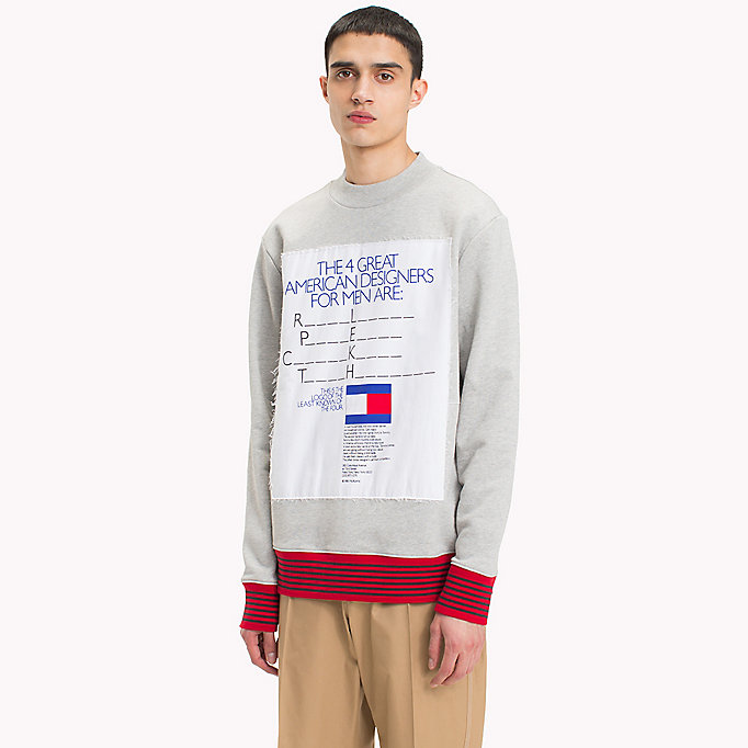 HILFIGER COLLECTION Hilfiger Collection Printed Sweatshirt - BRIGHT WHITE - HILFIGER COLLECTION Men - main image