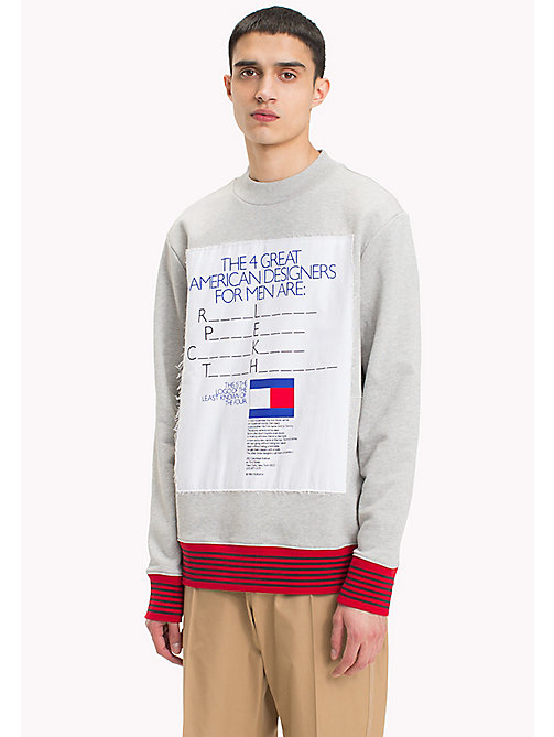 HILFIGER COLLECTION Hilfiger Collection Printed Sweatshirt - CLOUD HTR - HILFIGER COLLECTION Hilfiger Collection - main image