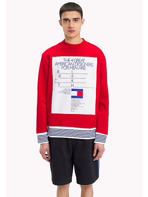 HILFIGER COLLECTION Hilfiger Collection Printed Sweatshirt - BARBADOS CHERRY - HILFIGER COLLECTION Clothing - main image