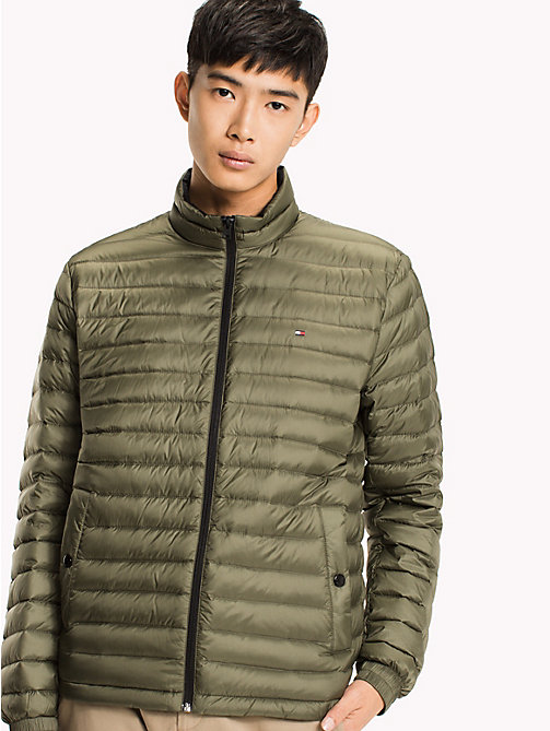 TOMMY HILFIGER Packable Down Bomber - FOUR LEAF CLOVER - TOMMY HILFIGER Clothing - main image