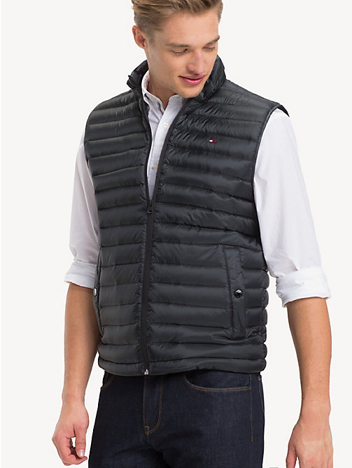TOMMY HILFIGER Gilet imbottito in piuma - JET BLACK - TOMMY HILFIGER Giacche - immagine principale