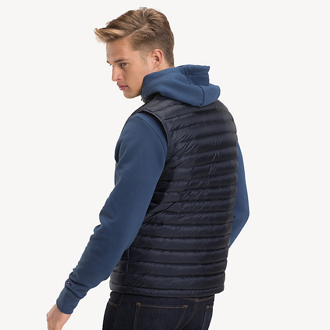 TOMMY HILFIGER Down-Padded Gilet - JET BLACK - TOMMY HILFIGER Men - detail image 1