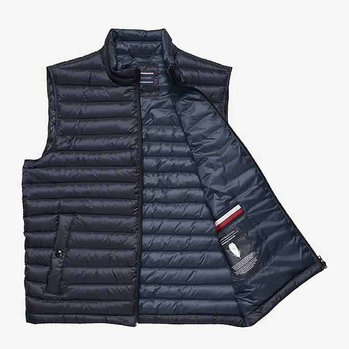 TOMMY HILFIGER Down-Padded Gilet - JET BLACK - TOMMY HILFIGER Men - detail image 4