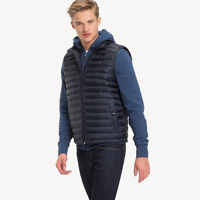 TOMMY HILFIGER Down-Padded Gilet - JET BLACK - TOMMY HILFIGER Men - main image