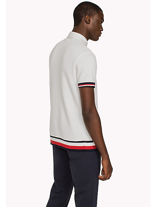 TOMMY HILFIGER Chunky Knit Slim Fit Polo Shirt - SNOW WHITE - TOMMY HILFIGER Hoodies & Sweatshirts - detail image 1