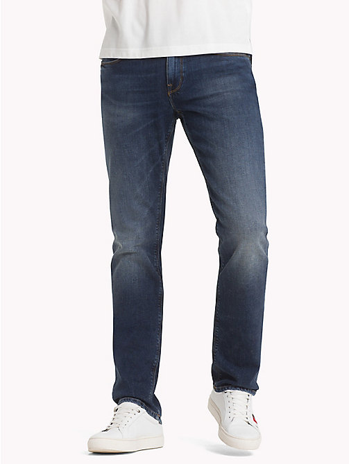 TOMMY HILFIGER Denton Faded Straight Fit Jeans - AMBOY INDIGO - TOMMY HILFIGER Straight-Fit Jeans - main image