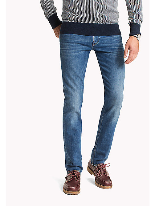 TOMMY HILFIGER Denton Straight Fit Jeans - ATLANTA BLUE - TOMMY HILFIGER Clothing - main image