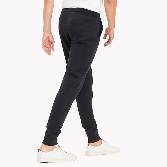 TOMMY HILFIGER Regular Fit Drawstring Joggers - CLOUD HTR - TOMMY HILFIGER Men - detail image 1