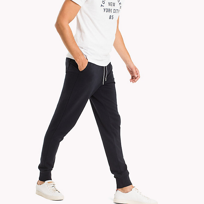 TOMMY HILFIGER Regular Fit Drawstring Joggers - CLOUD HTR - TOMMY HILFIGER Men - detail image 3