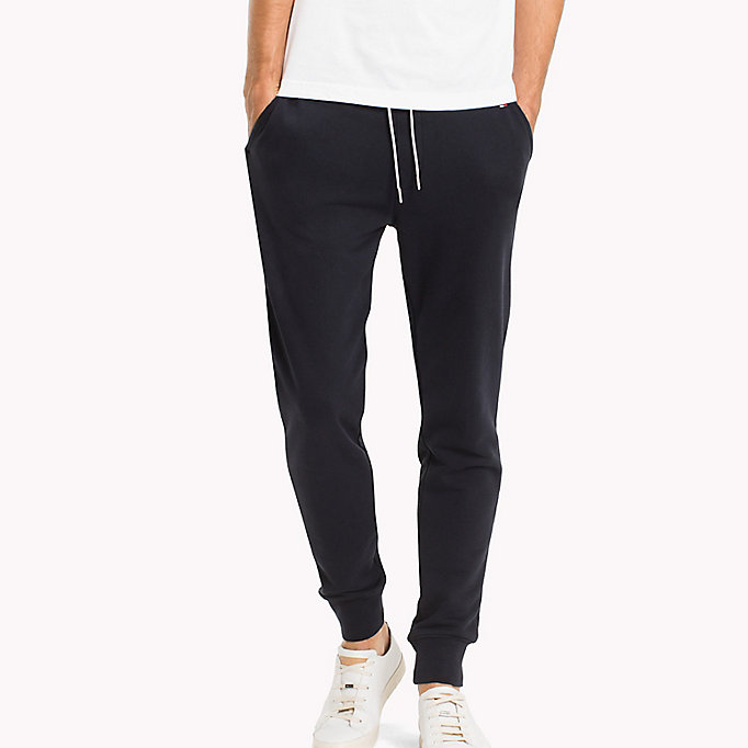 TOMMY HILFIGER Regular Fit Drawstring Joggers - CLOUD HTR - TOMMY HILFIGER Men - main image
