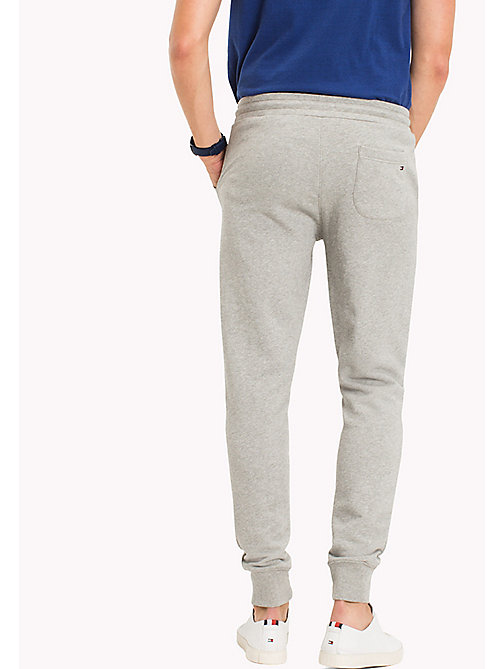 TOMMY HILFIGER Regular Fit Drawstring Joggers - CLOUD HTR - TOMMY HILFIGER Sweatpants - detail image 1