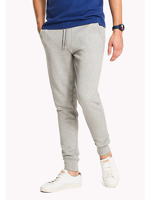TOMMY HILFIGER Regular Fit Drawstring Joggers - CLOUD HTR - TOMMY HILFIGER Sweatpants - main image