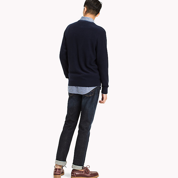 TOMMY HILFIGER Ricecorn Crew Neck Jumper - MORNING GLORY HEATHER - TOMMY HILFIGER Herren - main image 1