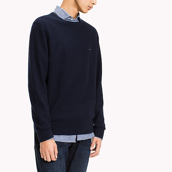 TOMMY HILFIGER Ricecorn Crew Neck Jumper - MORNING GLORY HEATHER - TOMMY HILFIGER Men - detail image 2