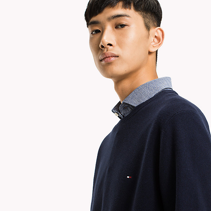 TOMMY HILFIGER Ricecorn Crew Neck Jumper - MORNING GLORY HEATHER - TOMMY HILFIGER Herren - main image 3