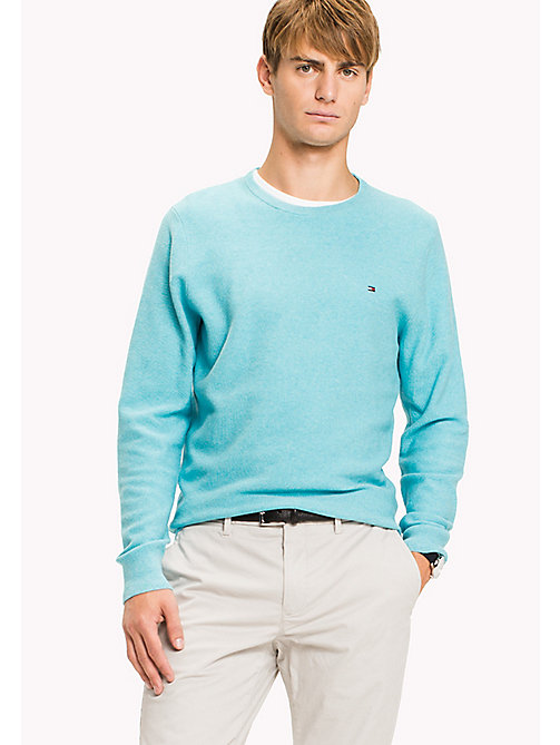 TOMMY HILFIGER Ricecorn Crew Neck Jumper - ANGEL BLUE HEATHER - TOMMY HILFIGER Jumpers - main image