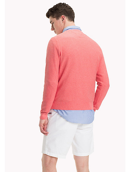 TOMMY HILFIGER Pullover girocollo a grana di riso - MORNING GLORY HEATHER - TOMMY HILFIGER Pantaloncini - dettaglio immagine 1