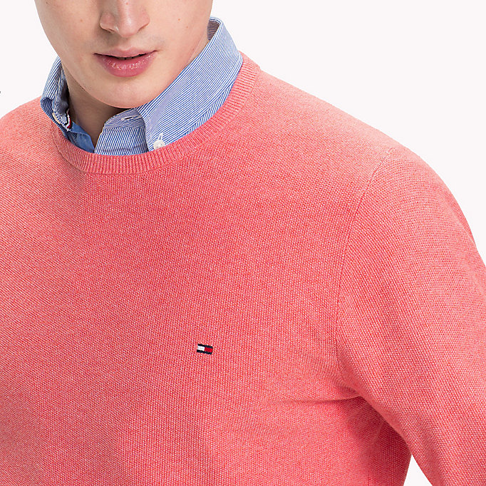 TOMMY HILFIGER Ricecorn Crew Neck Jumper - LEMON HTR - TOMMY HILFIGER Men - detail image 2
