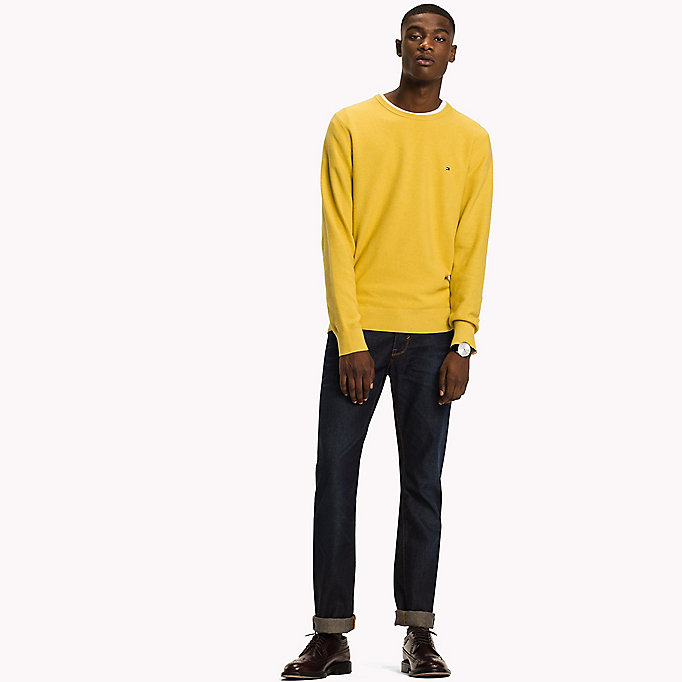 TOMMY HILFIGER Ricecorn Crew Neck Jumper - ANGEL BLUE HEATHER - TOMMY HILFIGER Vêtements - image principale